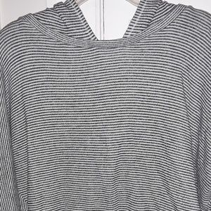 Mossimo Supply Co. Tops - Mossimo Supply Co Striped Long Sleeve Hoodie